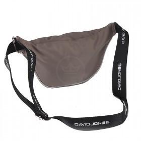 Сумка женская текстиль DJ-5962-1-GREY,   поясная 1отд,    2внут+1внеш/карм,    серый