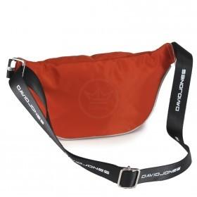 Сумка женская текстиль DJ-5962-1-ORANGE,   поясная 1отд,    2внут+1внеш/карм,    оранжевый