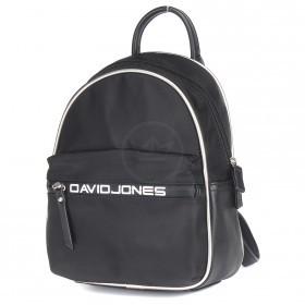 Сумка женская текстиль+иск/кожа DJ-5962-5-BLACK    (рюкзак) ,    1отд,    2внеш+2внут/карм,    черный