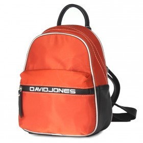 Сумка женская текстиль+иск/кожа DJ-5962-5-ORANGE    (рюкзак) ,    1отд,    2внеш+2внут/карм,    оранжевый