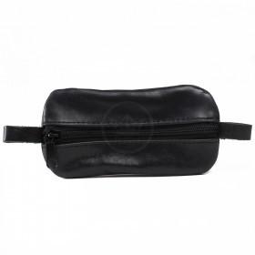 Футляр для ключей-FNX-КЛВ-104 натуральная кожа черный крек   (4062)