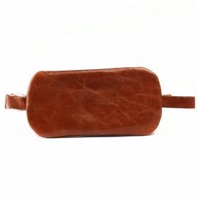 Футляр для ключей-FNX-КЛВ-104 натуральная кожа рыжий пулл-ап воск   (4210)
