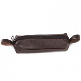 Футляр для ключей-FNX-КЛБ-100 натуральная кожа коричневый флотер фантазия   (4172)