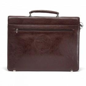 Портфель искусственная кожа Cantlor-W 005C-02,    5отд,    1внеш+6внут карм,    коричневый