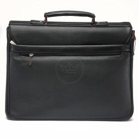 Портфель искусственная кожа Cantlor-W 1758-01,   4отд,   1внеш+5внут карм,    плечевой ремень,    черный
