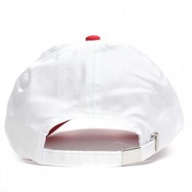 Бейсболка А-45 6 кл.,   металлическая застежка,   белый+красный.    (S)