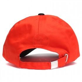 Бейсболка А-45 6 кл.,   металлическая застежка,   оранж.+черный.    (S)