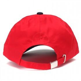 Бейсболка А-45 6 кл.,   металлическая застежка,   красный+т.синий.    (S)