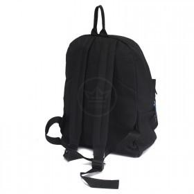 Рюкзак молодежный TL-РМ-03    (П-600) ,    уплотн.спинка,    1отд,    1внеш карм,    черный    (Sport синий)