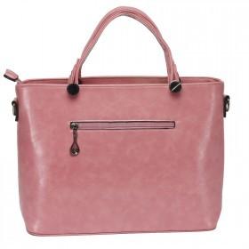 Сумка женская искусственная кожа ZEL-0421 1отд+карм/пер,    плечевой ремень,    розовый